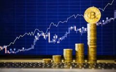 Bitcoin soars to record high